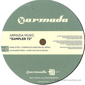 various - armada music sampler 72