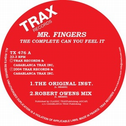 "Mr Fingers - Complete ""can You Feel It"""