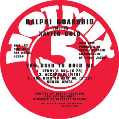Ralphi Rosario Feat. Xavier Gold - You Used To Hold Me (incl. Kenny Jason R